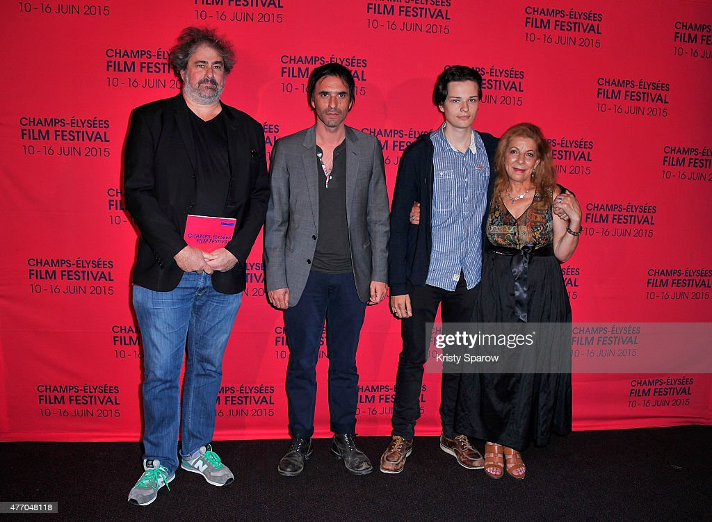 Gustave Kervern Samuel Benchetrit Jules Benchetrit and Tassadit Mandi attend the 'Asphalte' Premiere during the 4th Champs Elysees Film Festival at...