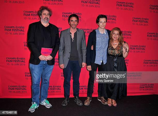Gustave Kervern Samuel Benchetrit Jules Benchetrit and Tassadit Mandi attend the 'Asphalte' Premiere during the 4th Champs Elysees Film Festival at...