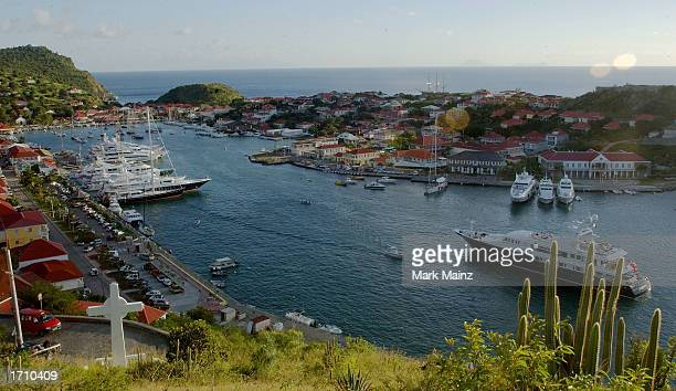 Gustavia harbor is seen December 27 2002 in St Barthelemy French West Indies