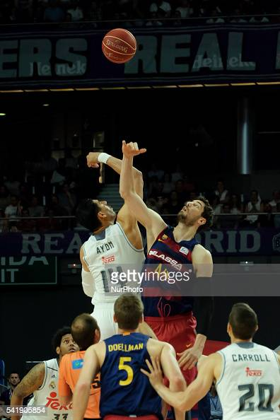 gustavo alfonso ayn of Real Madrid in action during the play off round 3 match between FC Barcelona Lassa and Real Madrid at Barclaycard Center in...