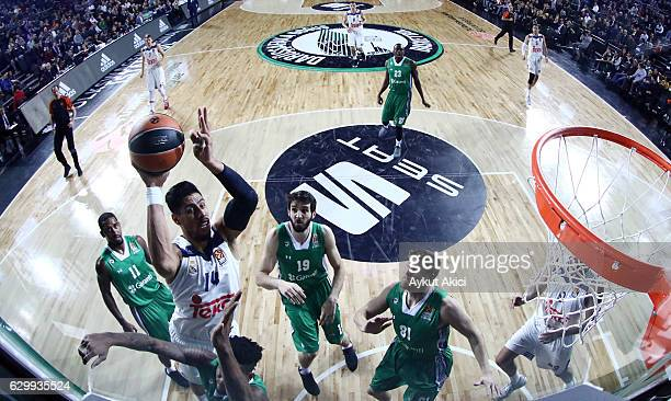 Gustavo Ayon #14 of Real Madrid in action during the 2016/2017 Turkish Airlines EuroLeague Regular Season Round 12 game between Darussafaka Dogus...
