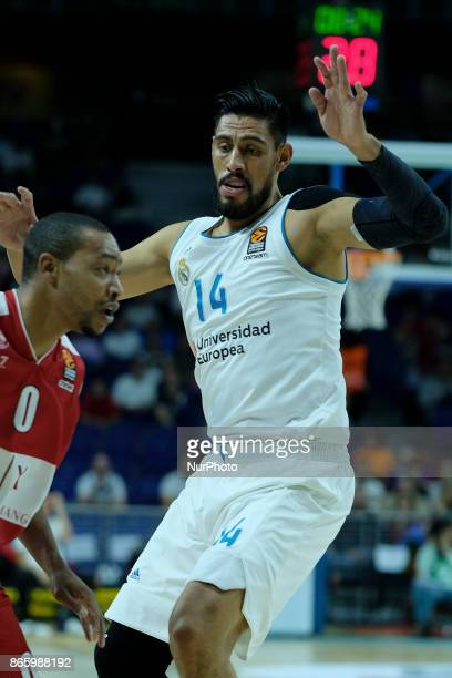 Gustavo Ayon of Real Madrid during the 2017/2018 Turkish Airlines Euroleague Regular Season Round 3 game between Real Madrid v AX Armani Exchange...