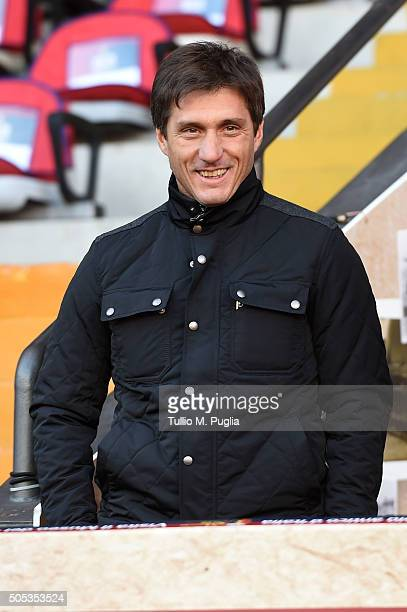 Gustavo Barros Schelotto Assistant coach of US Citta' di Palermo looks on in the VIP standing during the Serie A match between Genoa CFC and US Citta...