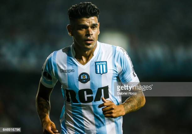 Gustavo Bou of Racing Club looks on during a first leg match between Racing and Rionegro Aguilas as part of first round of Copa Conmebol Sudamericana...