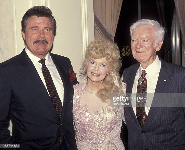 Gustavo Castilla Donna Douglas Max Baer attend the party for Buddy Ebsen on March 20 1992 at the Beverly Wilshire Hotel in Beverly Hills California