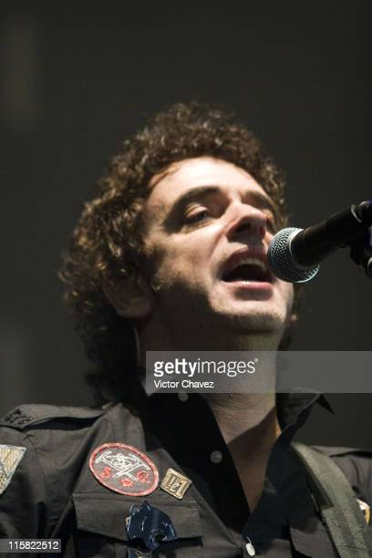 Gustavo Cerati during Los Tres Zoe and Gustavo Cerati In Concert at the Palacio De Los Deportes November 7 2006 at Palacio De Los Deportes in Mexico...