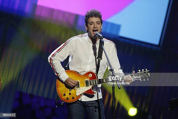 Gustavo Cerati performs onstage at the MTV Video Music Awards Latin America 2003 at the Jackie Gleason Theater on October 23 2003 in Miami Florida