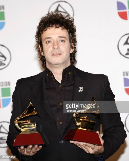 Gustavo Cerati winner Best Rock Solo Vocal Album for 'Ahi Vamos' and Best Rock Song for 'Crimen'