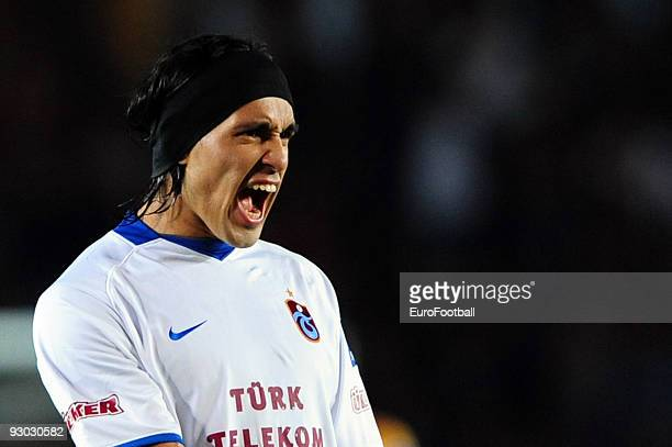 Gustavo Colman of Trabzonspor during the Turkish Super League match between Galatasaray and Trabzonspor held on October 18 2009 at Ali Sami Yen...