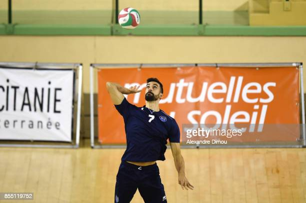 Gustavo Delgado of Montpellier during the Volleyball friendly match on September 22 2017 in Montpellier France