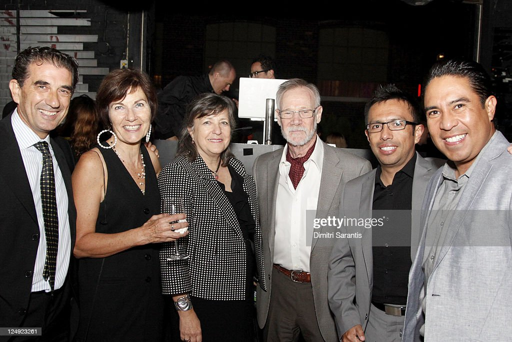 Gustavo Dichiara, professor Rosa Sarabia, senior advisor Alicia I. Bulwik, artist Hugo E. Slepoy, academic Ramiro Armas and actor Raul Fernandez attend 'City to City Cocktail Party' at F-Stop during the 2011 Toronto International Film Festival at F-Stop on September 13, 2011 in Toronto, Canada.