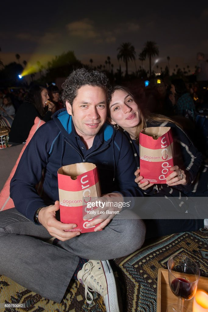 Gustavo Dudamel and Maria Valverde attend Cinespia's screening of 'Some Like It Hot' held at Hollywood Forever on August 19, 2017 in Hollywood, California.