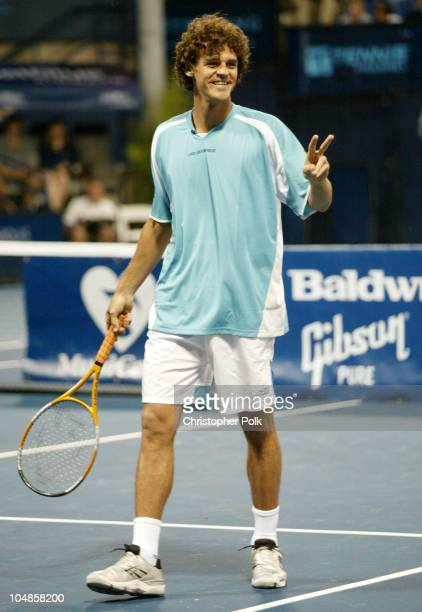 Gustavo Kuerten during GibsonBaldwin 'Night at the Net' at UCLA in Westwood CA United States