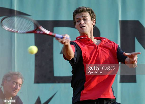 Gustavo Kuerten two time French Open Champion and 28th seed pulled out a tough 75 76 16 36 75 win over unseeded Nicolas Almagro