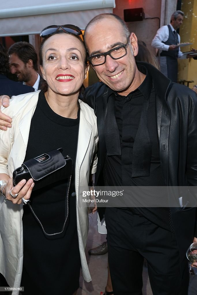 Gustavo Lins (R) attends the Chambre Syndicale de la Haute Couture cocktail party at Palais De Tokyo on July 4, 2013 in Paris, France.