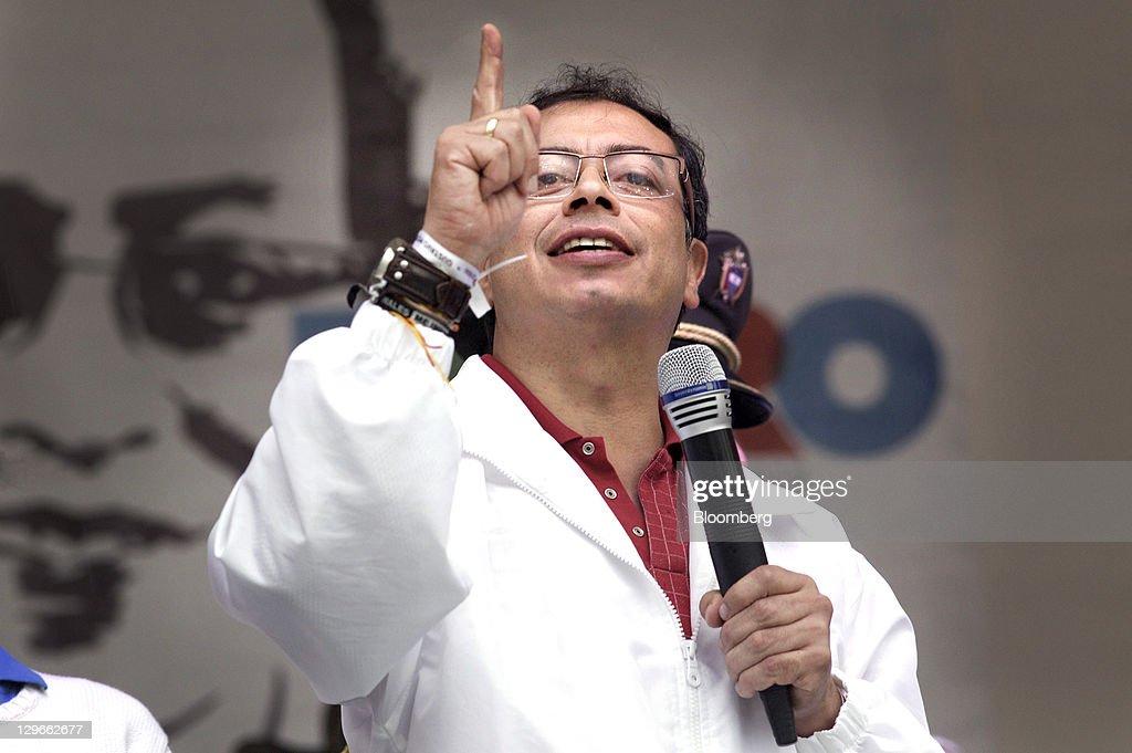 Bogota Mayoral Candidate Gustavo Petro Campaign Event