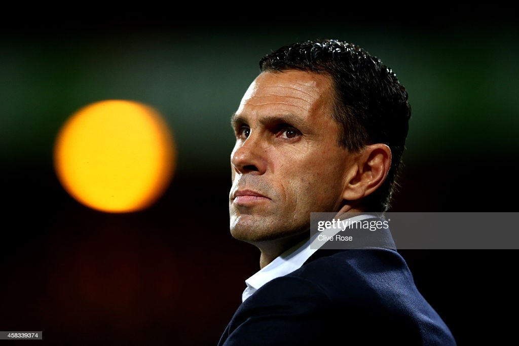<a gi-track='captionPersonalityLinkClicked' href=/galleries/search?phrase=Gustavo+Poyet&family=editorial&specificpeople=227352 ng-click='$event.stopPropagation()'>Gustavo Poyet</a> the manager of Sunderland looks on during the Barclays Premier League match between Crystal Palace and Sunderland at Selhurst Park on November 3, 2014 in London, England.