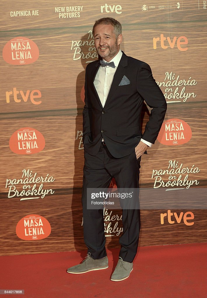 Gustavo Ron attends the 'Mi Panaderia de Brooklyn' premiere at Capitol cinema on June 30, 2016 in Madrid, Spain.