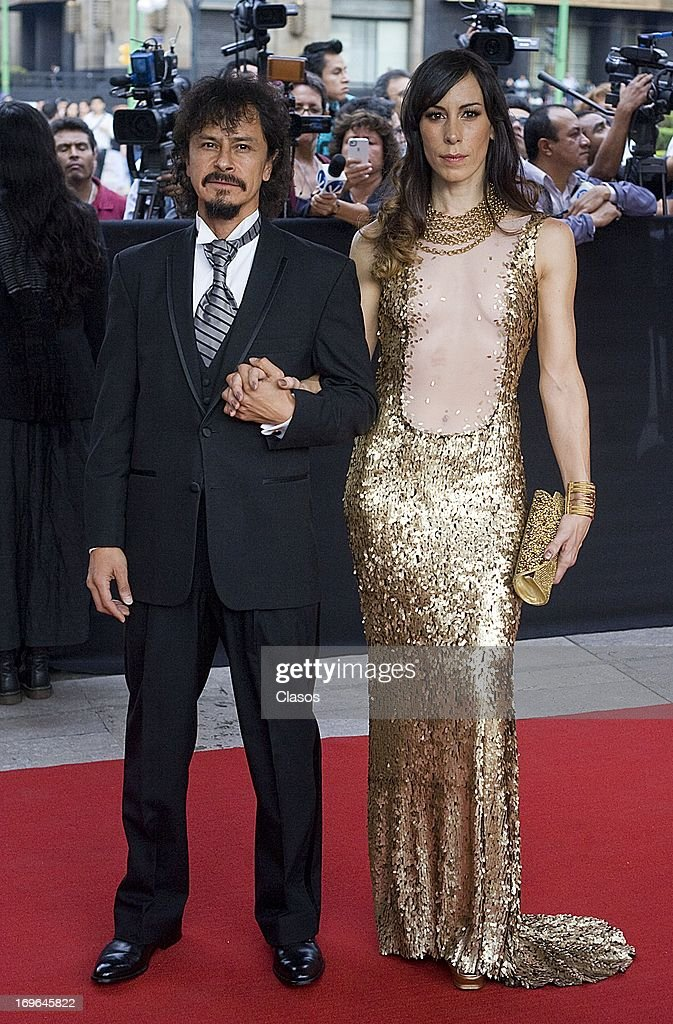 Gustavo Sanchez Parra poses during the red carpet of the 55th Ariel Awards at the Palace of Fine Arts on May 28 2013 in Mexico City Mexico