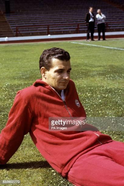 Gusztav SzepesiSzedunka during training at Sunderlands ground