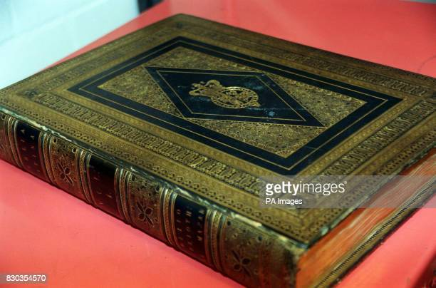 Gutenberg's bible at the British Library where a team from Japan's Keio University are digitising the two complete copies to mark the 600th...