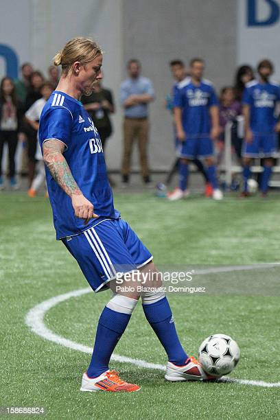 Guti in action during 'Partido X La Ilusion' by Iker Casillas Foundation at Palacio de los Deportes on December 23 2012 in Madrid Spain