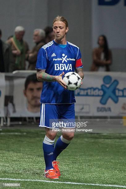 Guti in action during 'Partido X La Ilusion' by Iker Casillas Foundation at Palacio de los Deportes on December 23 2012 in Madrid Spain