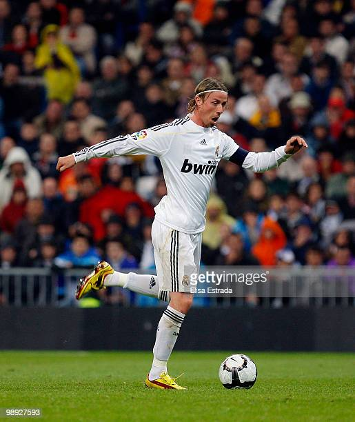 Guti of Real Madrid in action during the La Liga match between Real Madrid and Athletic Club at Santiago Bernabeu on May 8 2010 in Madrid Spain