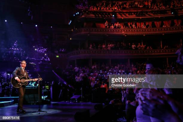 Guus Meeuwis performs on stage at The Royal Albert Hall on May 24 2015 in London England