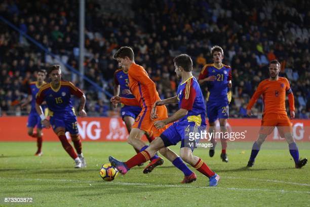 Guus Til of Jong Oranje Claudi Bove of Jong Andorra during the EURO U21 2017 qualifying match between Netherlands U21 and Andorra U21 at the...