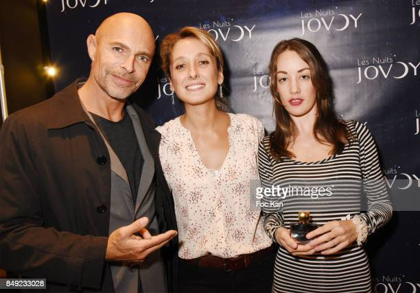 Guy Amram Jovoy perfume nose Vanina Muracciole and Juliette Besson attend 'Nuit Jovoy Rose Millesimee' at Jovoy Store on September 18 2017 in Paris...