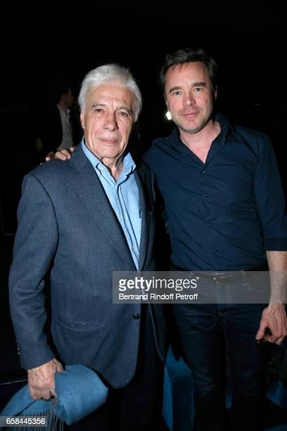 Guy Bedos and Guillaume de Tonquedec attend the 'Un profil pour deux' Paris Premiere at Cinema UGC Normandie on March 27 2017 in Paris France