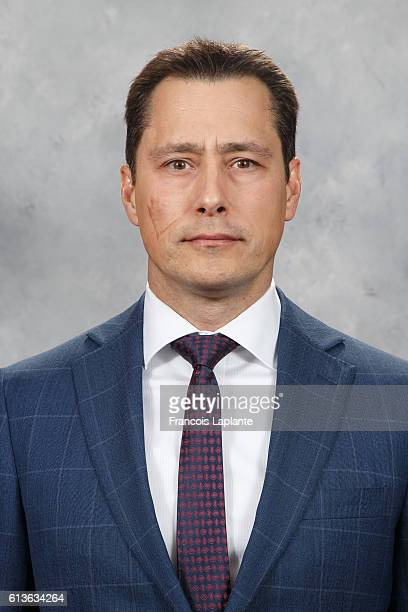 Guy Boucher of the Ottawa Senators poses for his official headshot for the 20162017 season at Canadian Tire Centre on October 1 2016 in Ottawa...