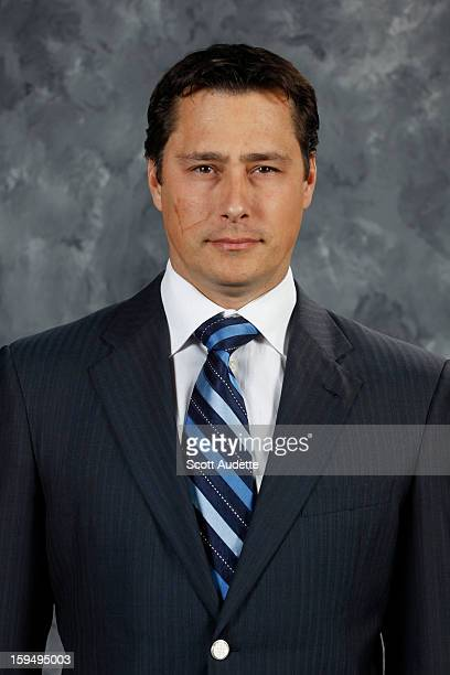 Guy Boucher of the Tampa Bay Lightning poses for his official headshot for the 20112012 season on September 16 in Tampa Florida