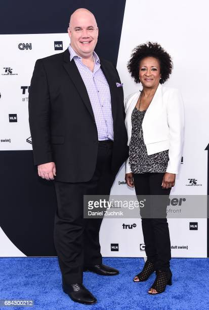 Guy Branum and Wanda Sykes attend the 2017 Turner Upfront at Madison Square Garden on May 17 2017 in New York City