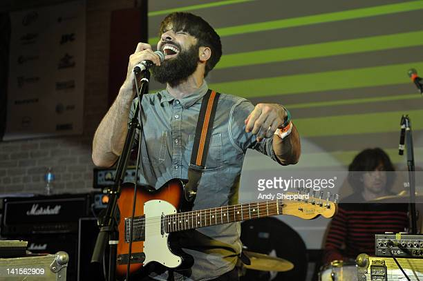 Guy Connelly of Clock Opera performs on stage at The British Music Embassy Latitude 30 during SXSW Music Festival 2012 on March 15 2012 in Austin...