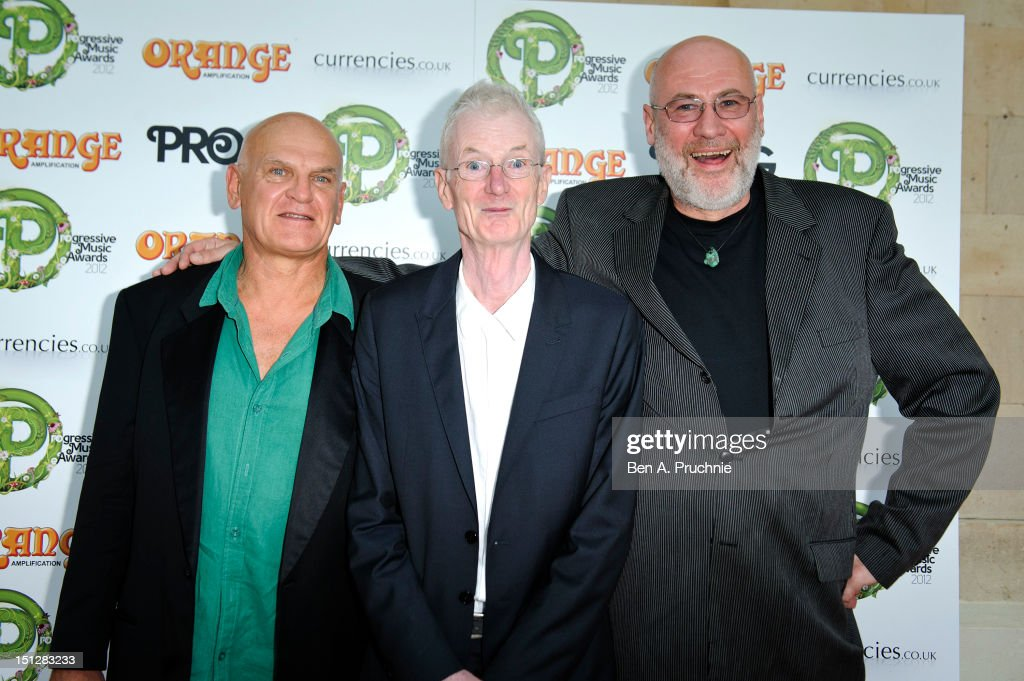 Guy Evans, Peter Hammill and Fish attend the Progressive Music Awards at Kew Gardens on September 5, 2012 in London, England.