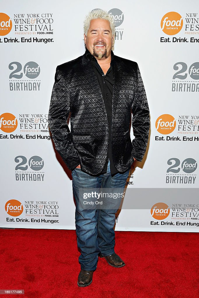 <a gi-track='captionPersonalityLinkClicked' href=/galleries/search?phrase=Guy+Fieri&family=editorial&specificpeople=4593795 ng-click='$event.stopPropagation()'>Guy Fieri</a> attends Food Networks 20th birthday celebration at Pier 92 on October 17, 2013 in New York City.