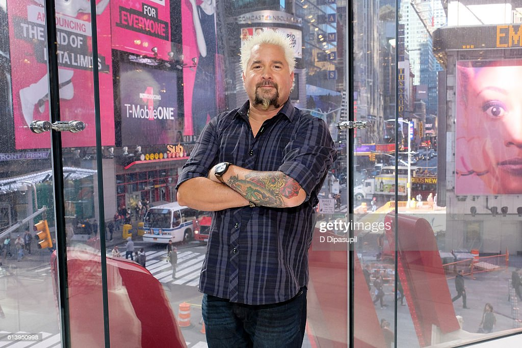 "Guy Fieri Visits ""Extra"""