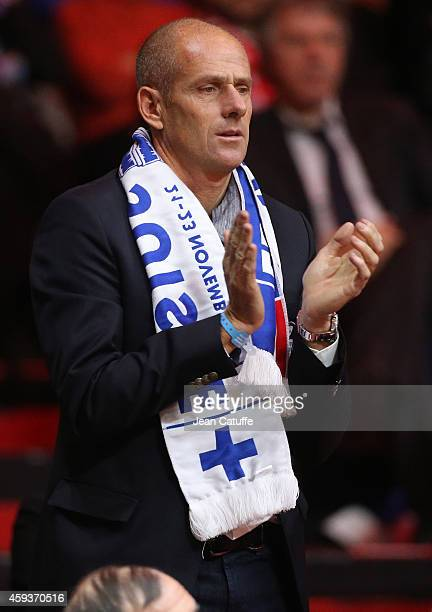 Guy Forget attends day one of the Davis Cup tennis final between France and Switzerland at the Grand Stade Pierre Mauroy on November 21 2014 in Lille...