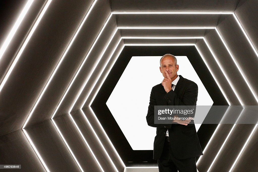 Guy Forget BNP Paribas Masters Tournament Director poses after Day 7 of the BNP Paribas Masters held at AccorHotels Arena on November 8 2015 in Paris...