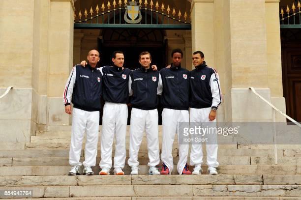 Guy FORGET / Michael LLODRA / Julien BENNETEAU / Gael MONFILS / Jo Wilfried TSONGA Coupe Davis France / Allemagne Toulon