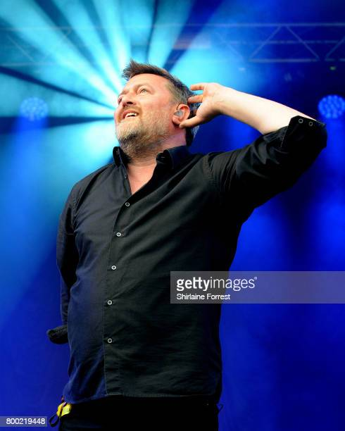 Guy Garvey of Elbow performs a surprise set on The Park stage performs on day 2 of the Glastonbury Festival 2017 at Worthy Farm Pilton on June 23...