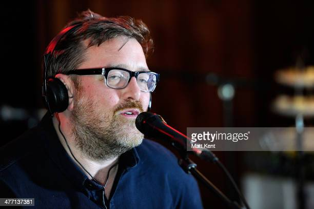 Guy Garvey of Elbow performs as part of The Absolute Radio Sessions at Golden Square on March 7 2014 in London England