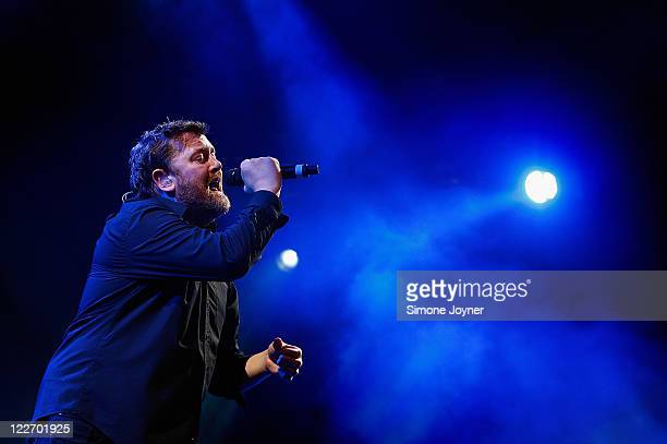 Guy Garvey of Elbow performs live on the Main Stage during day three of Reading Festival 2011 on August 28 2011 in Reading England