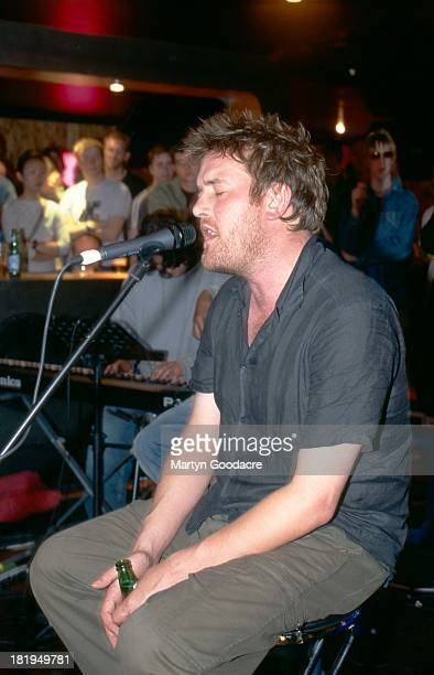 Guy Garvey of Elbow performs on stage UK 1997
