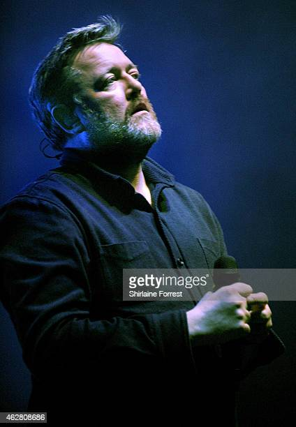 Guy Garvey of Elbow performs onstage during the first of four consecutive sold out homecoming shows at O2 Apollo Manchester on February 5 2015 in...