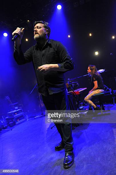 Guy Garvey performs on stage at the O2 Shepherd's Bush Empire on December 1 2015 in London England