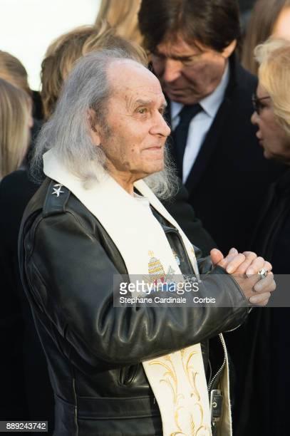 Guy Gilbert during Johnny Hallyday's Funeral at Eglise De La Madeleine on December 9 2017 in Paris France France pays tribute to Johnny Hallyday the...