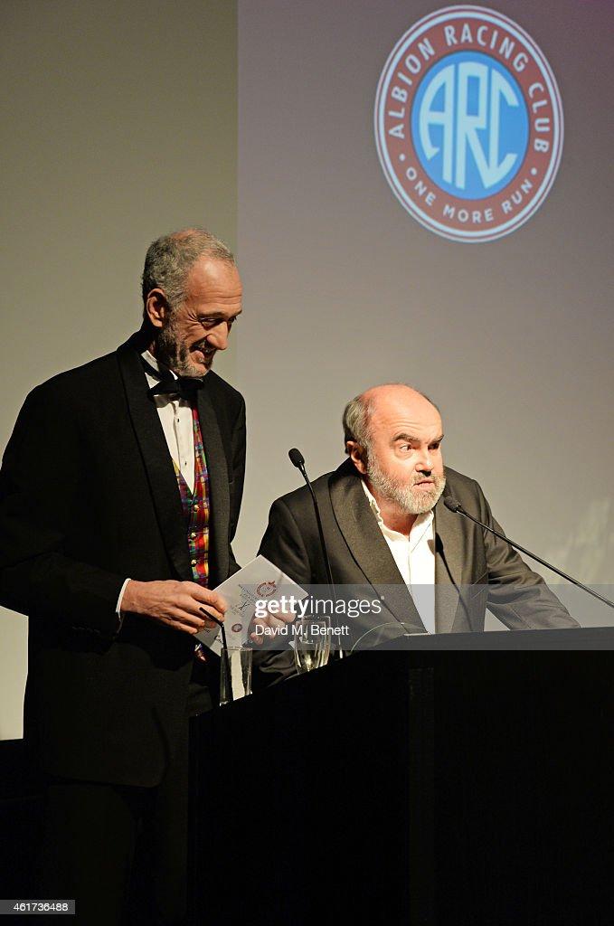 Guy Jenkin L And Andy Hamilton Accept The British Actress Of Year Award